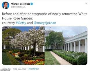 giardino delle rose alla casa bianca prima e dopo melania trumpo