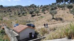 il punto dove sono stati trovati i presunti resti di gioele