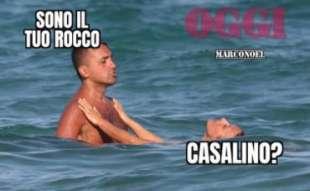 meme su di maio al mare con virginia saba