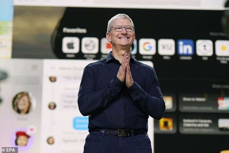 tim cook se la ride