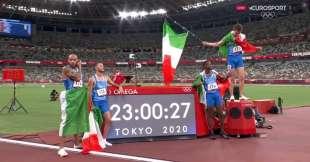 4x100 italia oro a tokyo 2020