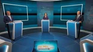 armin laschet annalena baerbock olaf scholz dibattito tv