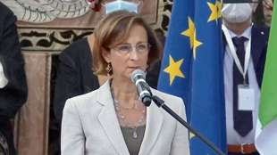 marta cartabia a genova - commemorazione ponte morandi