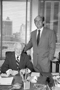 Richard Robinson con il figlio Maurice