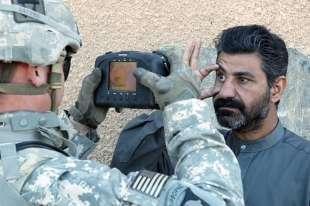 scan biometrici usa in afghanistan