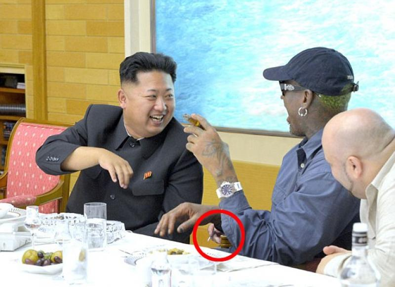 North Korea time (hora de Corea del Norte) Dennis Rodman