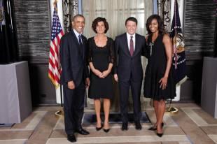 Matteo Agnese Renzi Barack Michelle Obama