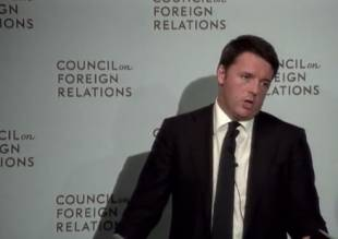 renzi al council on foreign relations
