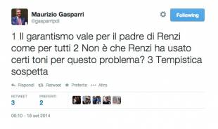 Twit Gasparri su Renzi
