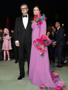 livia e colin firth green carpet fashion award 2