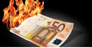 soldi e risparmi bruciati