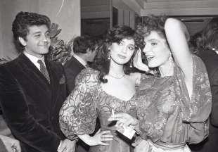 Alberto Tarallo con Michela Miti e Tini Cansino al club 84 - 30 gennaio 1984- ph Marcellino Radogna