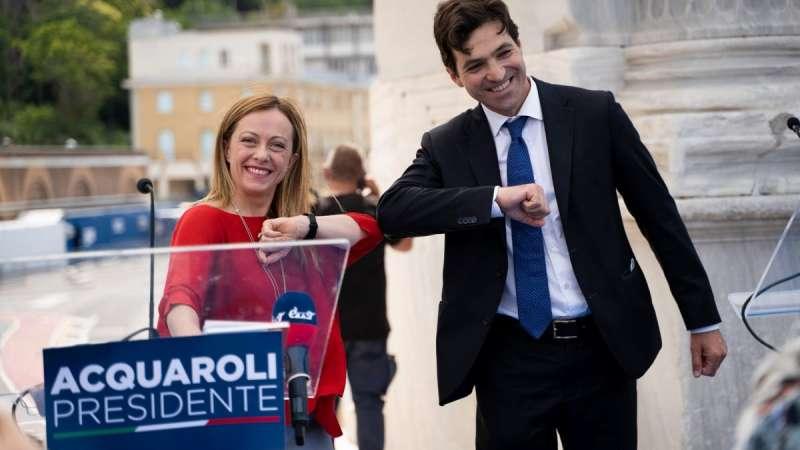 GIORGIA MELONI FRANCESCO ACQUAROLI
