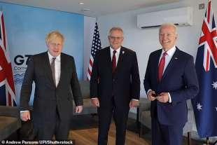 Boris Johnson, Scott Morrison e Joe Biden