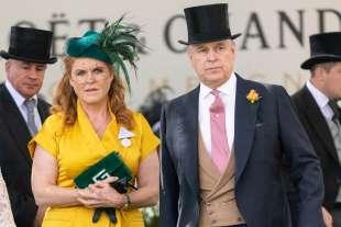 Il principe Andrew con Sarah Ferguson