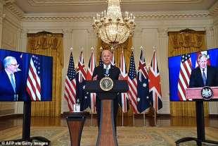 Joe Biden durante la conferenza stampa