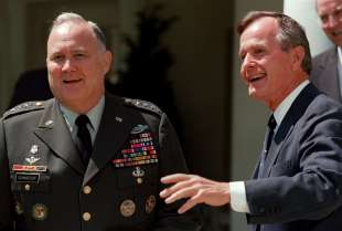 Norman Schwarzkopf e George Bush