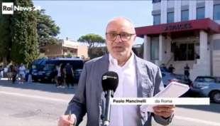 paolo mancinelli si blocca in diretta in collegamento con rainews24 7