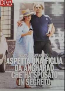 Riccardo Scamarcio e la manager Angharad Wood, con cui ha avuto una figlia