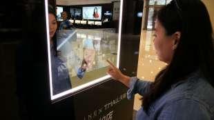 shopping con qr code e touch screen 2