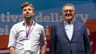 STEFANO FELTRI E CARLO DE BENEDETTI A DOGLIANI 2020