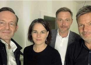 VOLKER WISSING, ANNALENA BAERBOCK, CHRISTIAN LINDNER, ROBERT HABECK