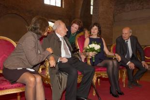 Lorenza Foschini Giovanni Sartori e Isabella Gherardi e Claudio Strinati