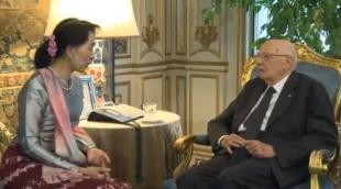AUNG SAN SUU KYI A ROMA DA NAPOLITANO