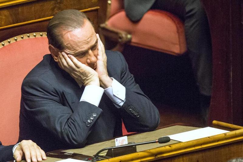 BERLUSCONI IN SENATO PER LA FIDUCIA AL GOVERNO LETTA FOTO LAPRESSE
