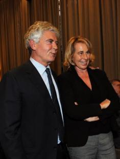 Claudio Martelli e Stefania Craxi