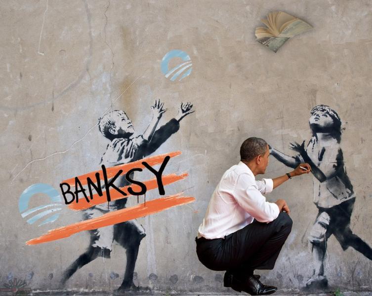 murales di banksy dago fotogallery