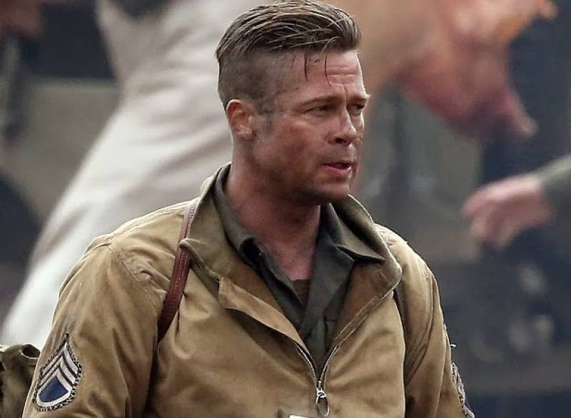 brad pitt fury hair - photo #20