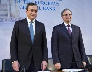 Mario Draghi Ignazio Visco a Napoli