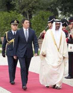 matteo Renzi e lo sceicco Mohammed Zayed Nahyan