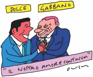 renzi berlusconi by vincino