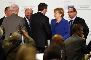 renzi schulz, hollande and merkel in milana