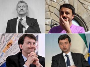RENZI DALEMA FRANCESCHINI ORLANDO