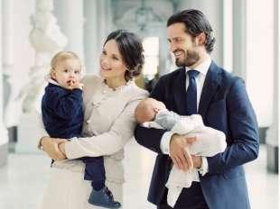 il principe carlo filippo con la famiglia