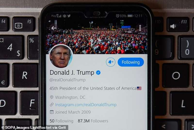 account twitter di donald trump