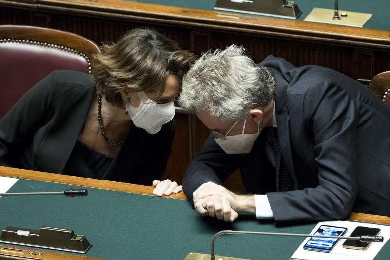 Elena Bonetti e Gaetano Manfredi