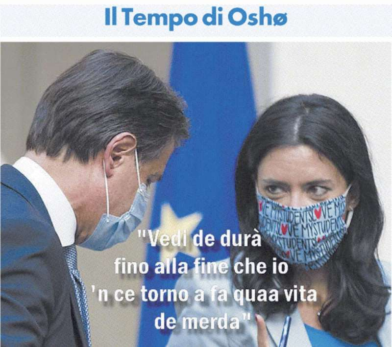 Giuseppe Conte e Lucia Azzolina by Osho
