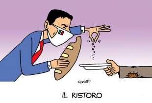 IL RISTORO - VIGNETTA SU ITALIA OGGI