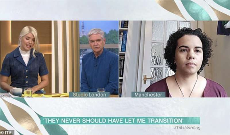 keira bell intervistata a this morning su itv