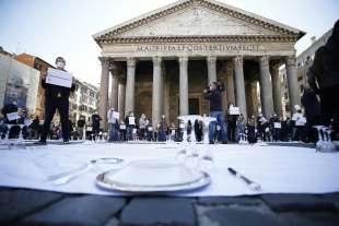 protesta dei ristoratori al pantheon 9