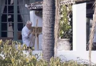 boris johnson dipinge a marbella 1