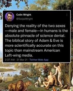 Il post di Colin Wright
