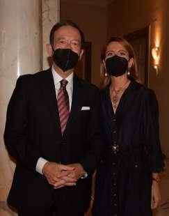 l ambasciatore della germania viktor elbling e la moglie nuria sanz foto di bacco