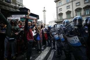 manifestazione no green pass a roma 9