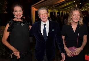 marisela federici con l ex ambasciatore michael gerdts e la figlia foto di bacco