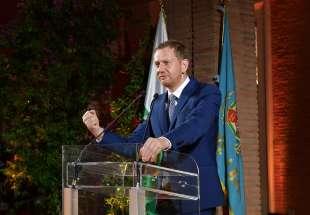 michael kretschmer presidente dello stato libero della sassonia foto di bacco